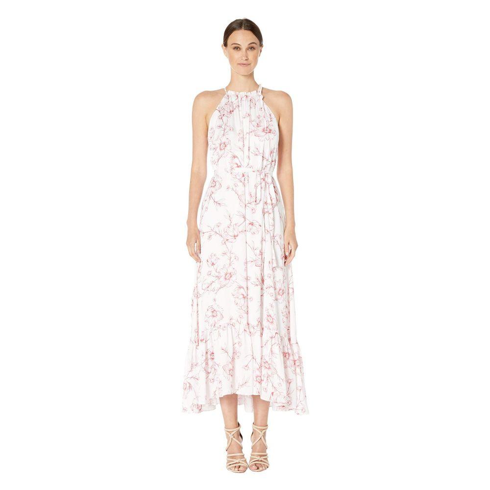 モニーク ルイリエ ML Monique Lhuillier レディース ワンピース ワンピース・ドレス【Freesia Floral Print Halter Full-Length Dress】White Cayenne