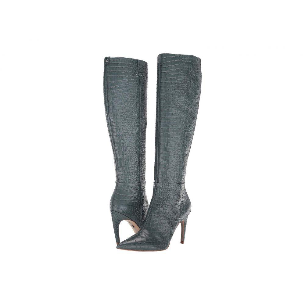 サム エデルマン Sam Edelman レディース ブーツ シューズ・靴【Fraya 2】Grey Iris Kenya Croco Embossed Leather
