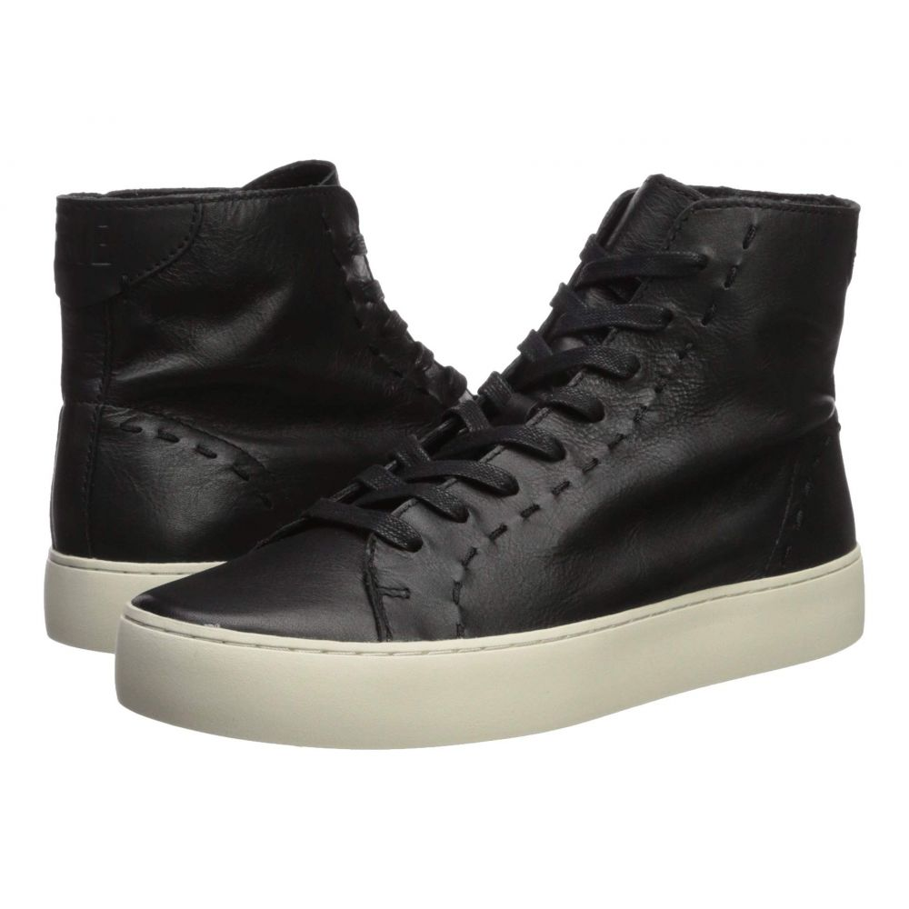 フライ Frye レディース スニーカー シューズ・靴【Lena High Top】Black Polished Soft Full Grain