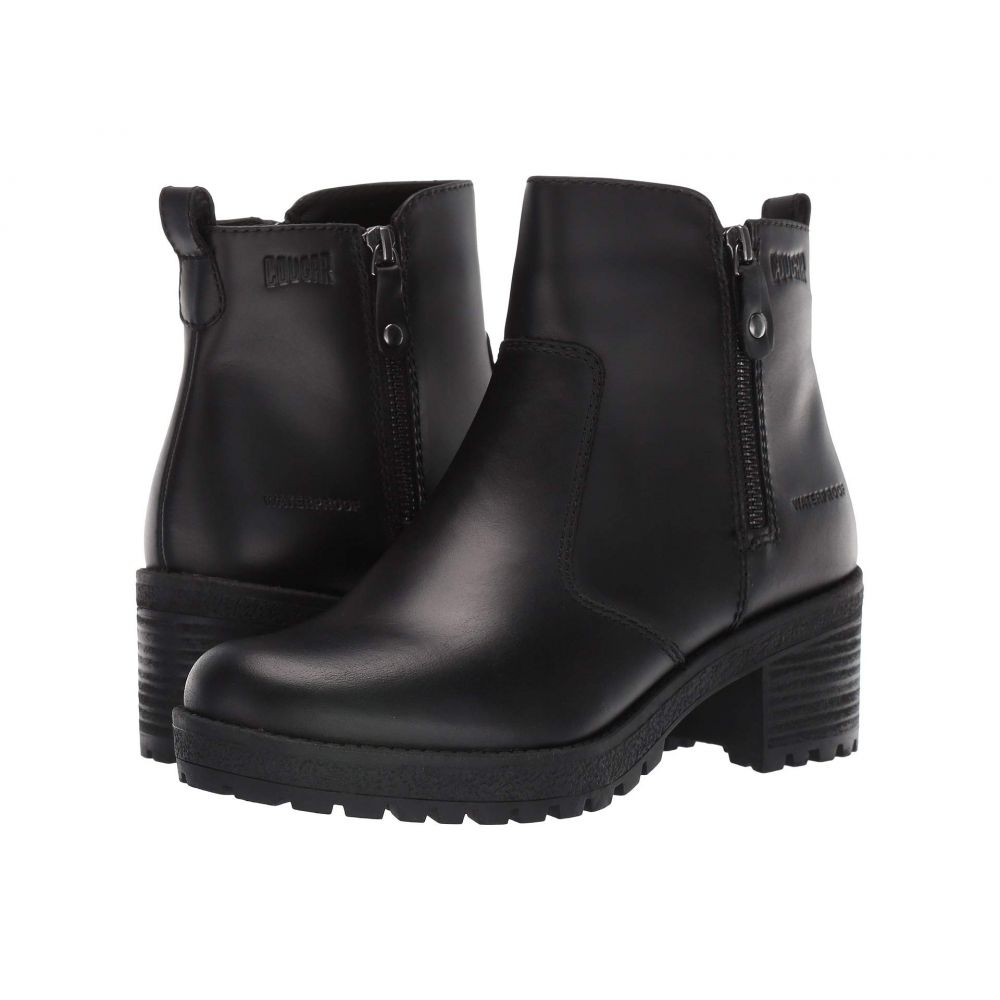 クーガー Cougar レディース ブーツ シューズ・靴【Dayton Waterproof】Black Leather
