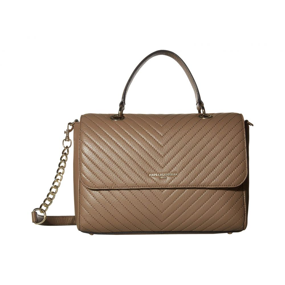 カール ラガーフェルド Karl Lagerfeld Paris レディース ショルダーバッグ バッグ【Charlotte Shoulder Bag】Dark Taupe