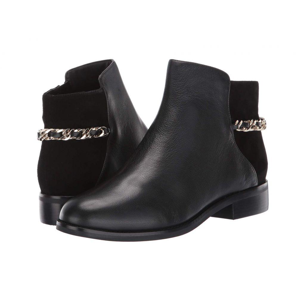 コールハーン Cole Haan レディース ブーツ シューズ・靴【Idina Bootie】Black Tumbled Leather/Black Suede/Black Stack