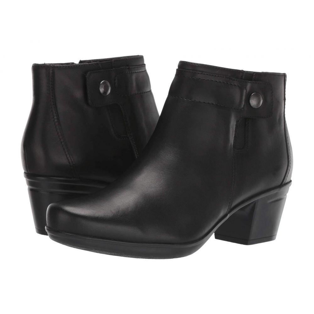 クラークス Clarks レディース ブーツ シューズ・靴【Emslie Jada】Black Leather