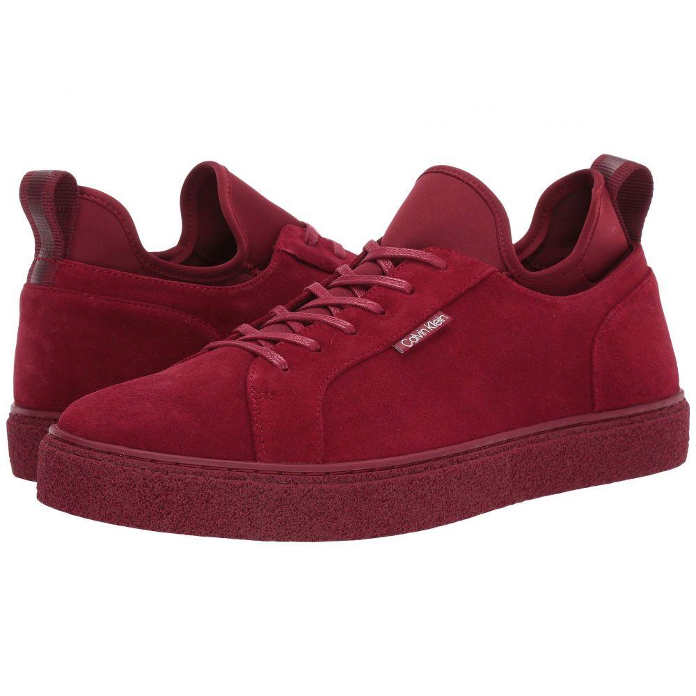 カルバンクライン Calvin Klein メンズ スニーカー シューズ・靴【Ellison Hi】Barn Red Suede/Neoprene