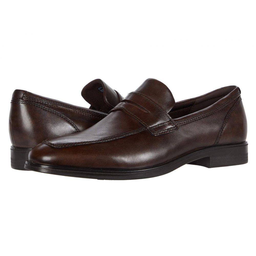 エコー ECCO メンズ ローファー シューズ・靴【Queenstown Penny Loafer】Cocoa Brown Cow Leather