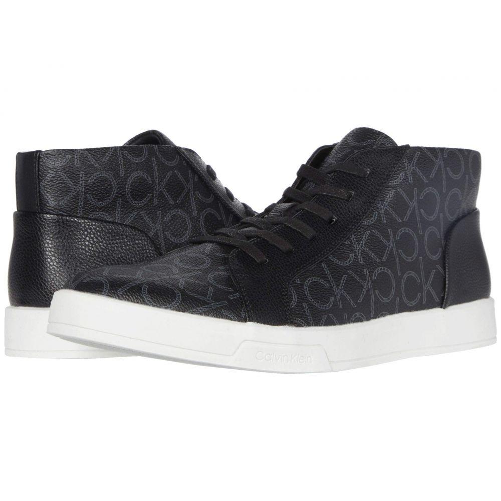 カルバンクライン Calvin Klein メンズ スニーカー シューズ・靴【Bensi】Black CK Monogram Smooth