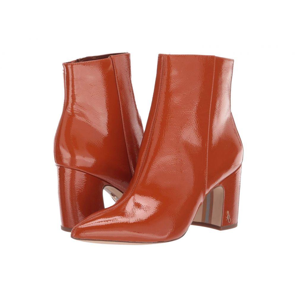 サム エデルマン Sam Edelman レディース ブーツ シューズ・靴【Hilty 2】Tawny Brown Goat Crinkle Patent Leather