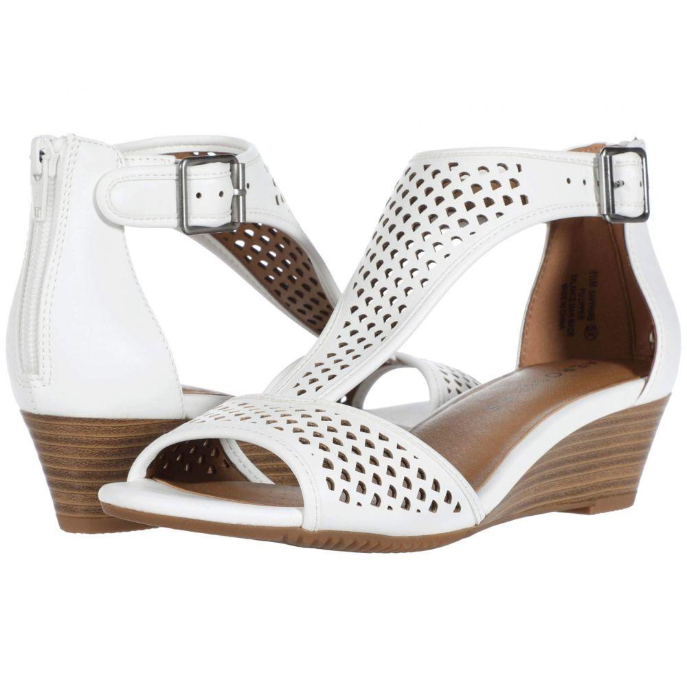 エアロソールズ Aerosoles レディース サンダル・ミュール シューズ・靴【Sapphire】White