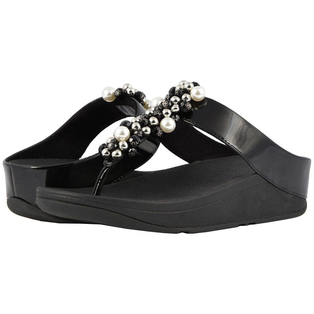 フィットフロップ FitFlop レディース ビーチサンダル シューズ・靴【Deco Toe Thong Sandals】Black