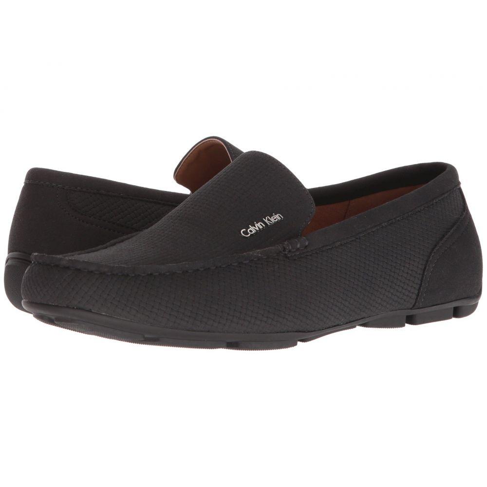 カルバンクライン Calvin Klein メンズ ローファー シューズ・靴【Manny】Black Weave Nubuck