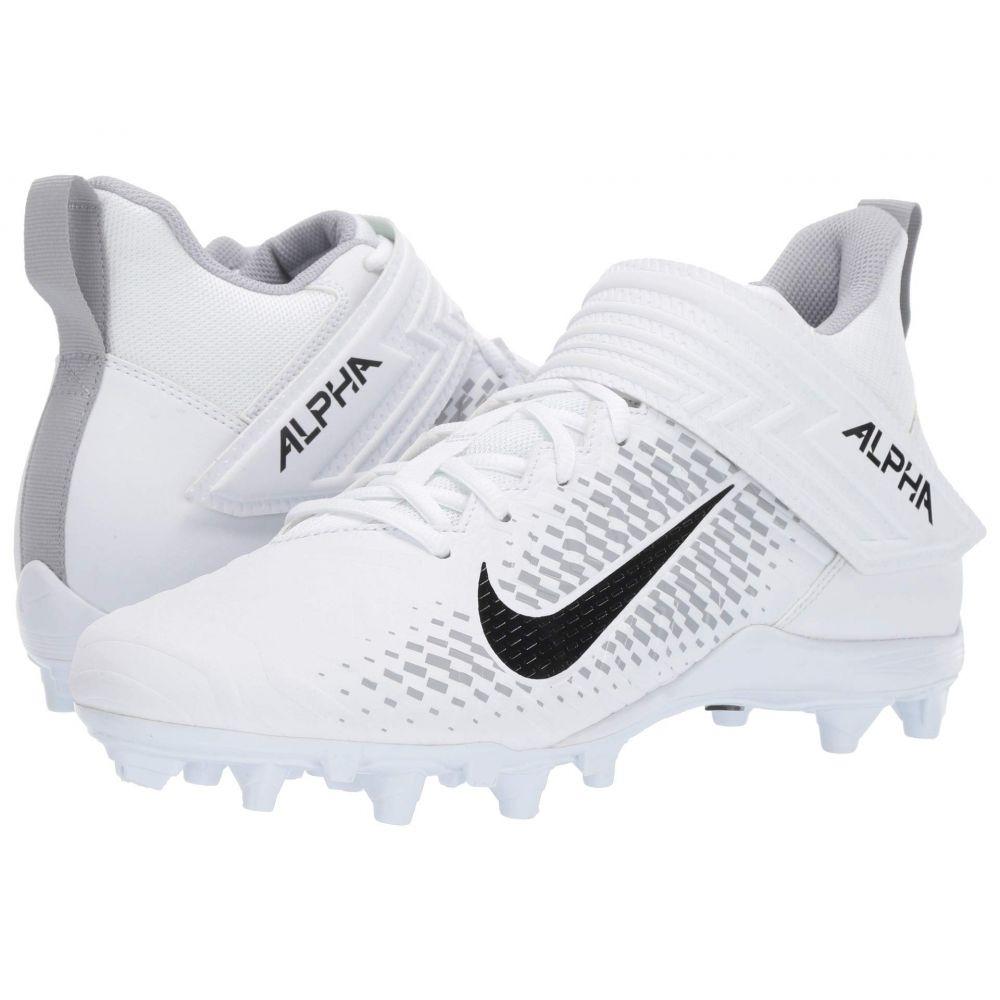 ナイキ Nike メンズ アメリカンフットボール シューズ・靴【Alpha Menace Varsity 2】White/Black/White/Wolf Grey