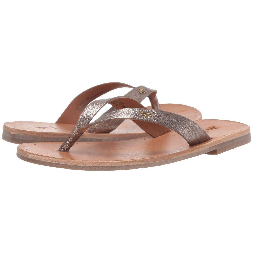 フライ Frye レディース ビーチサンダル シューズ・靴【Azalea Logo Flip-Flop】Bronze Vintage Metallic