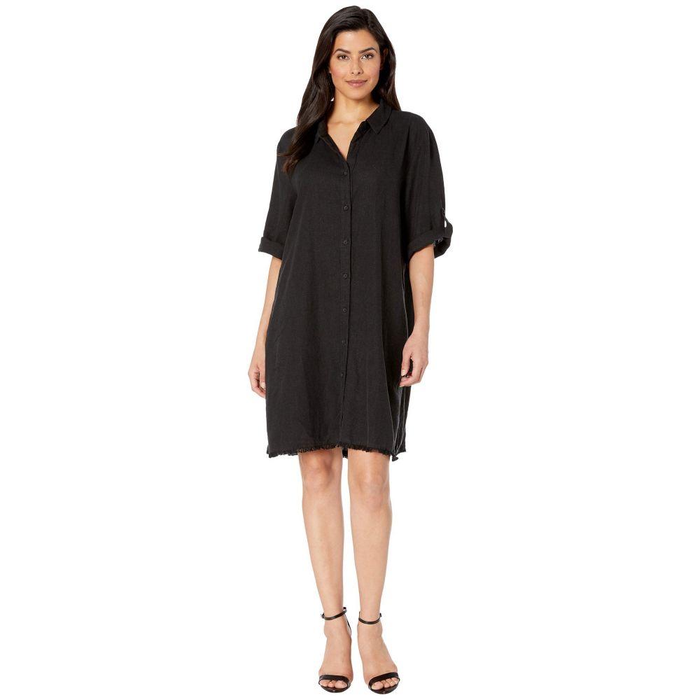 モドオードック Mod-o-doc レディース ワンピース ワンピース・ドレス【Frayed Hem A-Line Dress】Black
