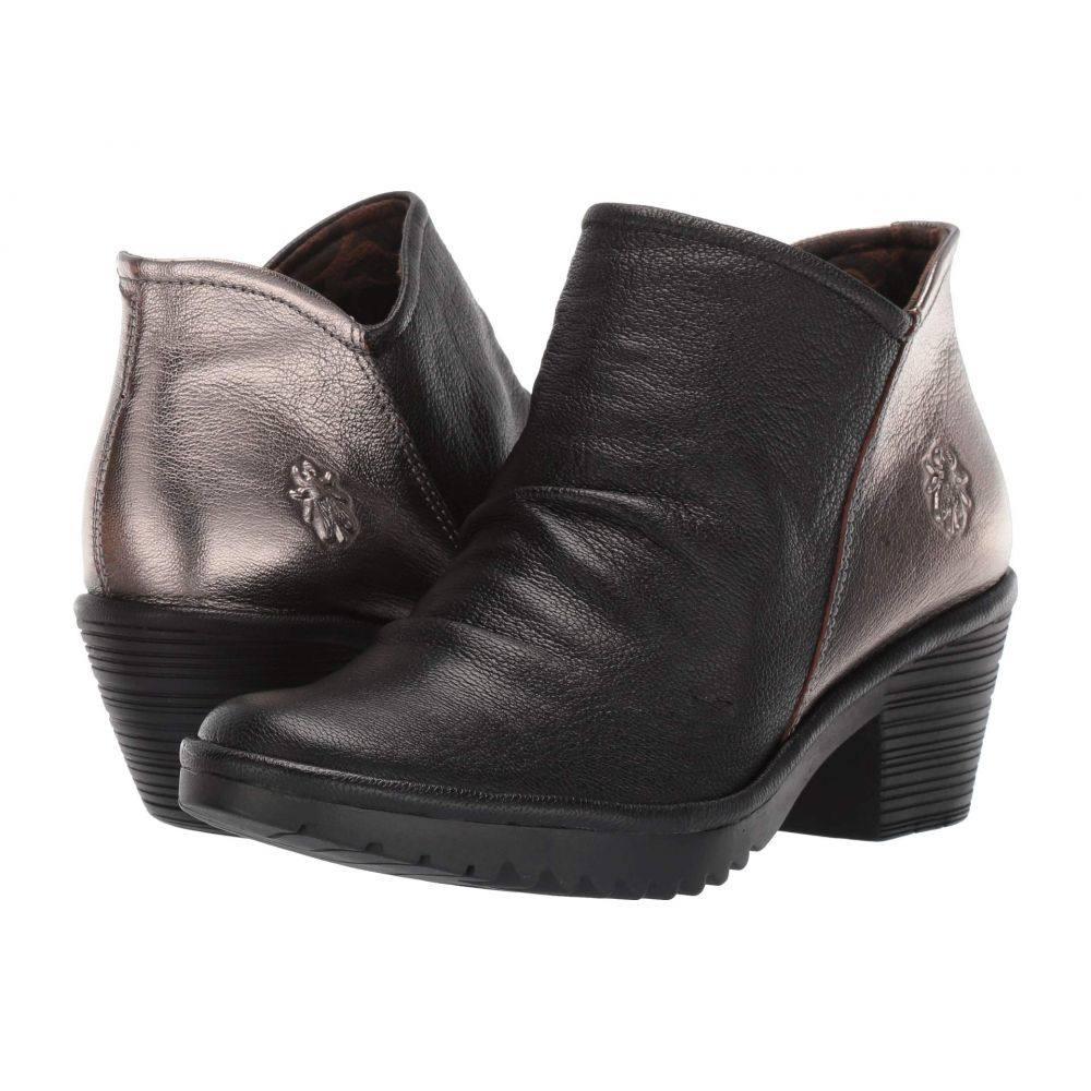 フライロンドン FLY LONDON レディース ブーツ シューズ・靴【WEZO890FLY Wide】Black/Bronze Mousse/Idra