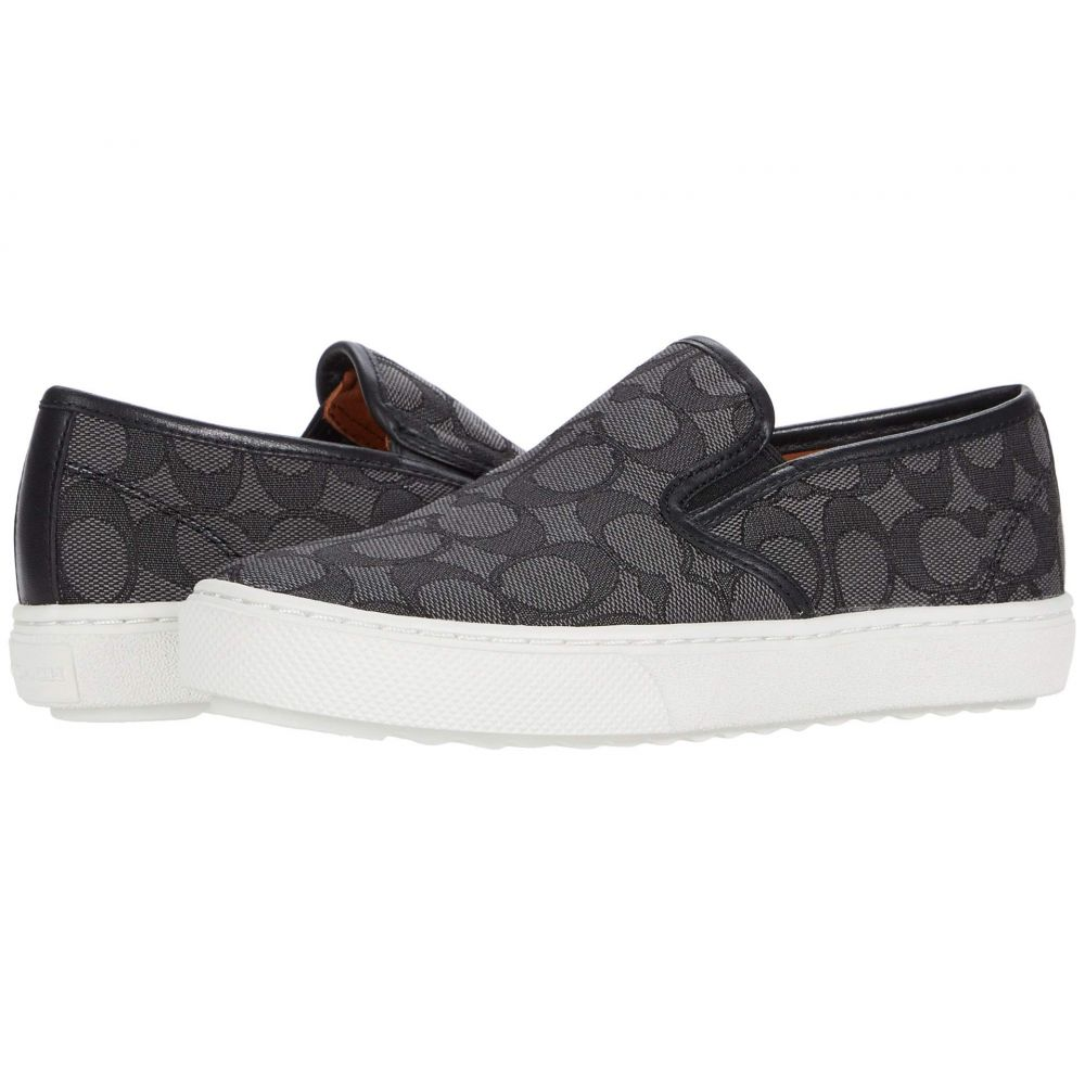コーチ COACH レディース スニーカー シューズ・靴【C115 Signature Sneaker】Black Smoke/Black