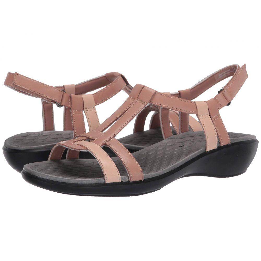 クラークス Clarks レディース サンダル・ミュール シューズ・靴【Sonar Aster】Blush Combi Leather