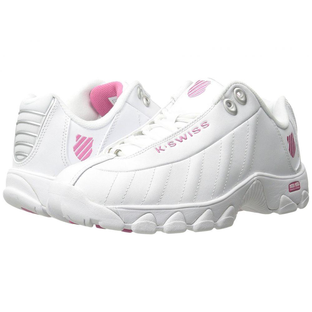 ケースイス K-Swiss レディース スニーカー シューズ・靴【ST329 CMF】White/Shocking Pink Leather