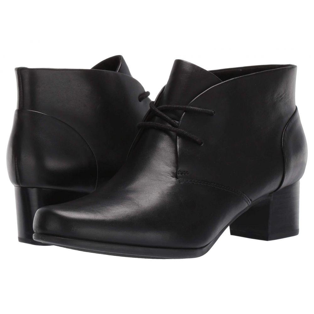 クラークス Clarks レディース ブーツ シューズ・靴【Un Damson Tie】Black Leather