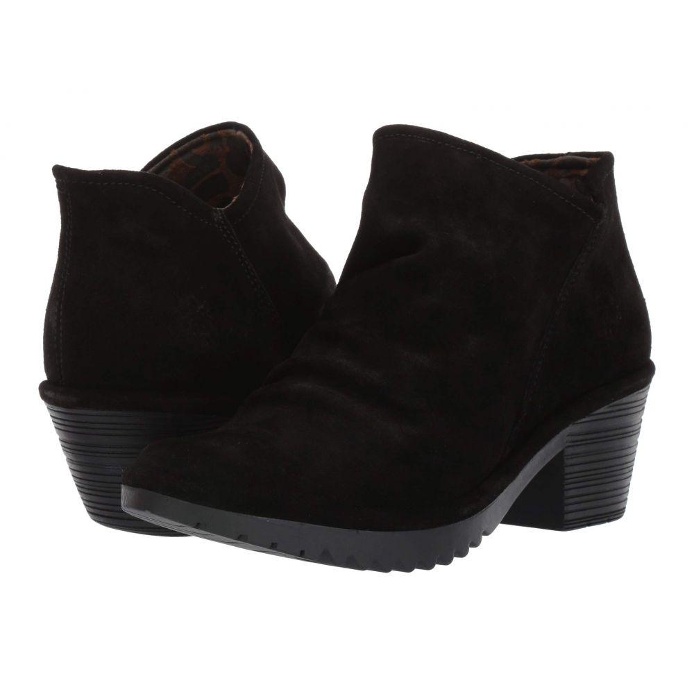 フライロンドン FLY LONDON レディース ブーツ シューズ・靴【WEZO890FLY Wide】Black Oil Suede