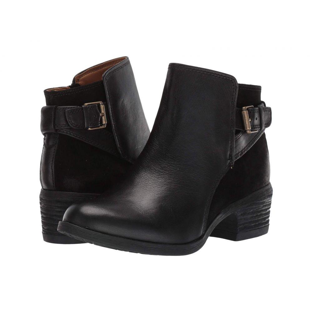 コンフォーティヴァ Comfortiva レディース ブーツ シューズ・靴【Creston】Black Wild Steer/Cow Suede