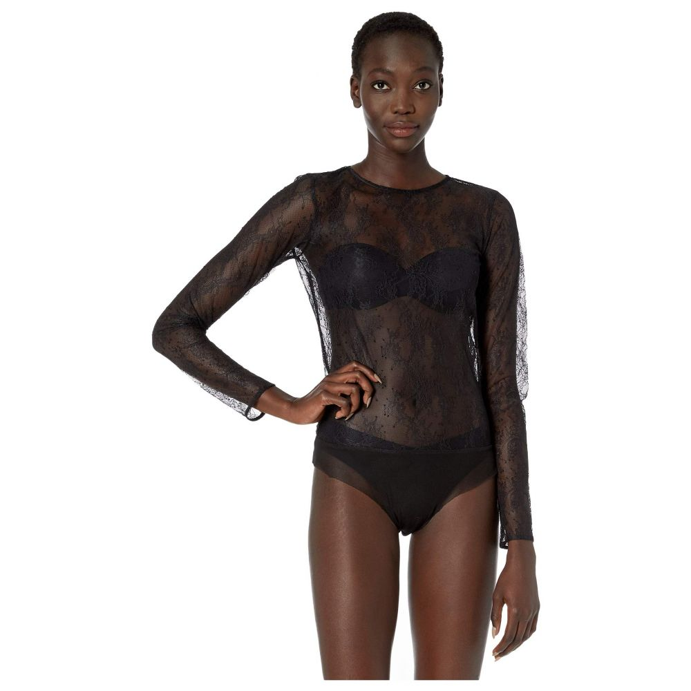 スキン Skin レディース ボディースーツ インナー・下着【Sabrina Lace Bodysuit】Black