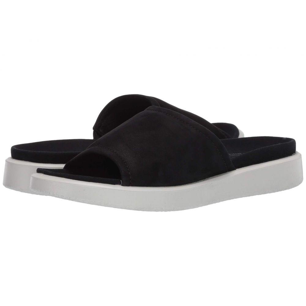 エコー ECCO レディース サンダル・ミュール スライドサンダル シューズ・靴【Yuma Slide Sandal】Black Cow Nubuck