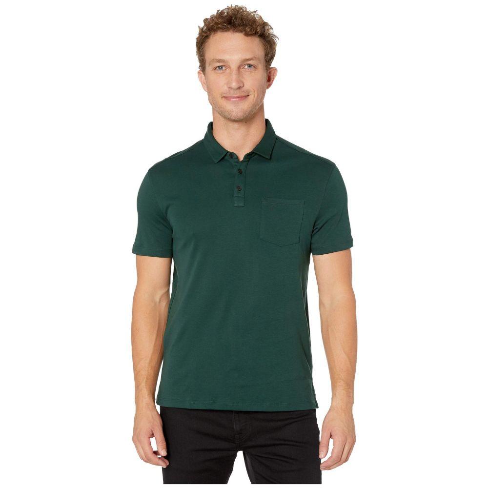 ジョン バルベイトス John Varvatos Star U.S.A. メンズ ポロシャツ 半袖 トップス【Burlington Short Sleeve Classic Fit Cotton Interlock Polo K4525V3B】Algae