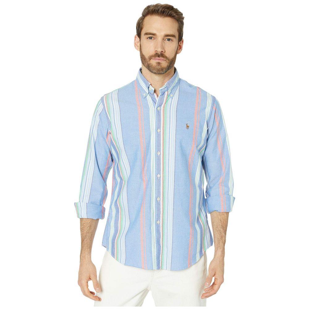ラルフ ローレン Polo Ralph Lauren メンズ シャツ トップス【Classic Fit Long Sleeve Oxford Shirt】Blue/Red Multi Stripe