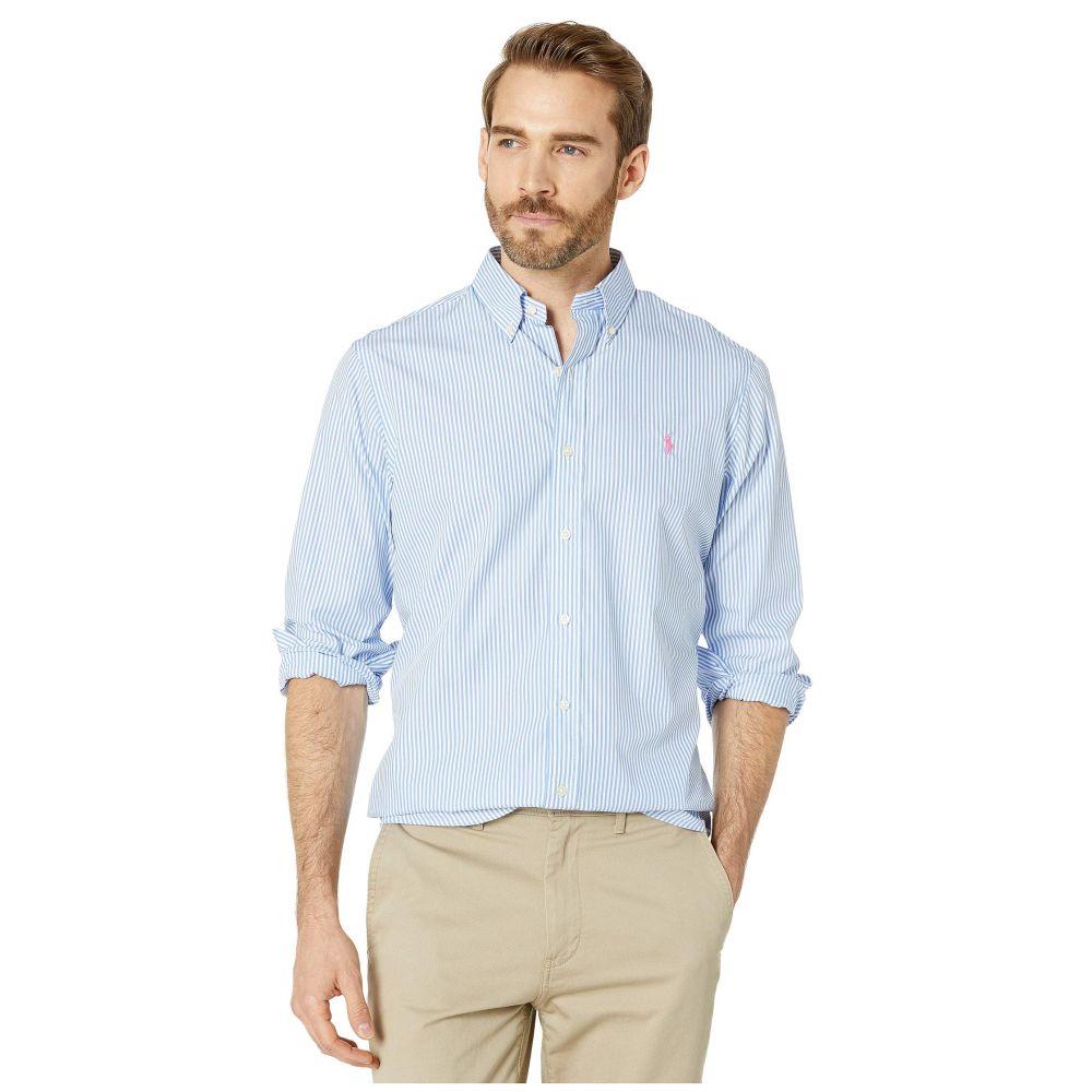 ラルフ ローレン Polo Ralph Lauren メンズ シャツ トップス【Classic Fit Plaid Poplin Shirt】Light Blue/White