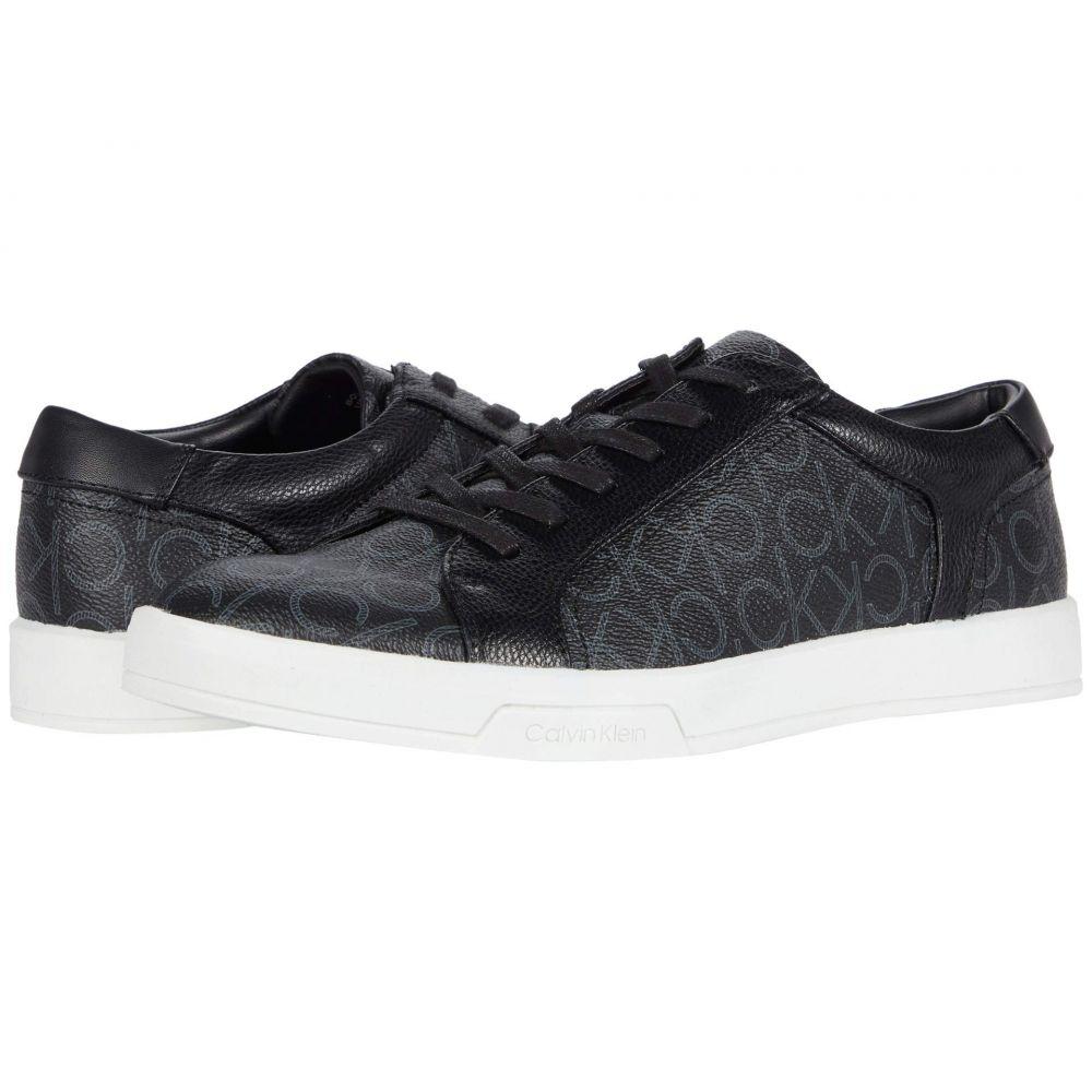 カルバンクライン Calvin Klein メンズ スニーカー シューズ・靴【Bowyer】Black CK Monogram Smooth