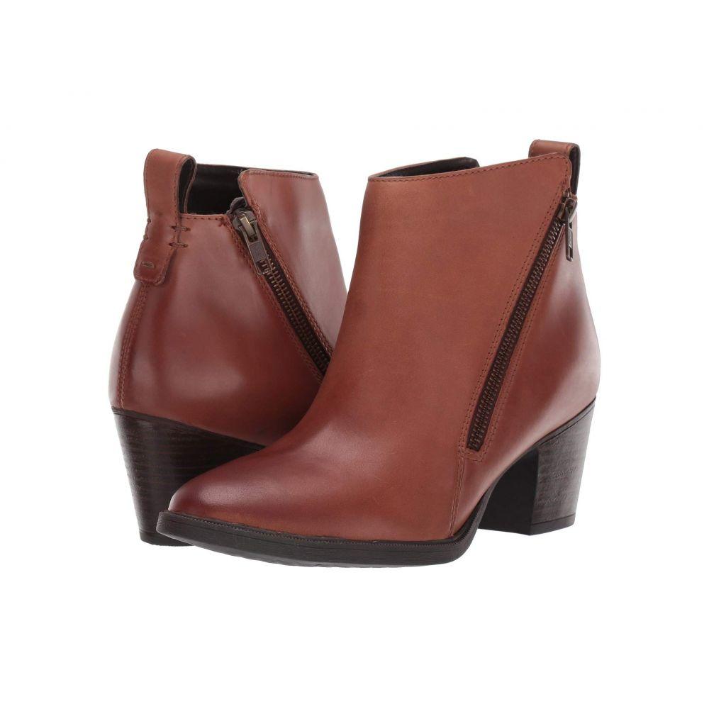 ロックポート Rockport レディース ブーツ ショートブーツ シューズ・靴【Maddie Ankle Zip Boot】Cognac