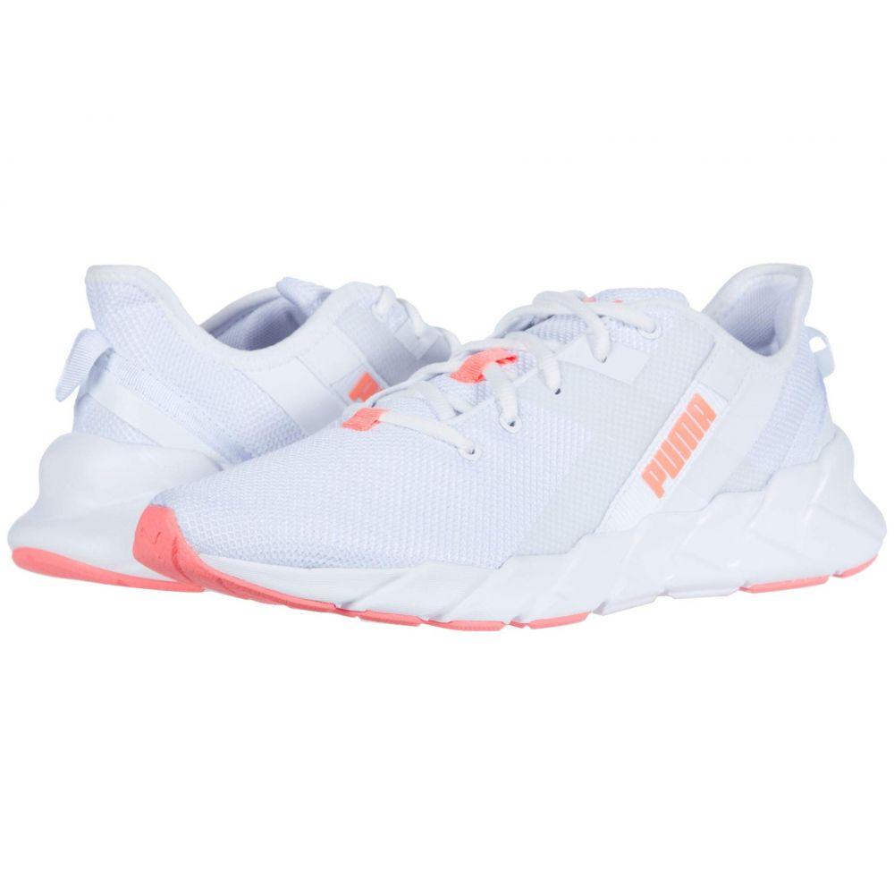 プーマ PUMA レディース スニーカー シューズ・靴【Weave XT】Puma White/Ignite Pink/Fizzy Orange