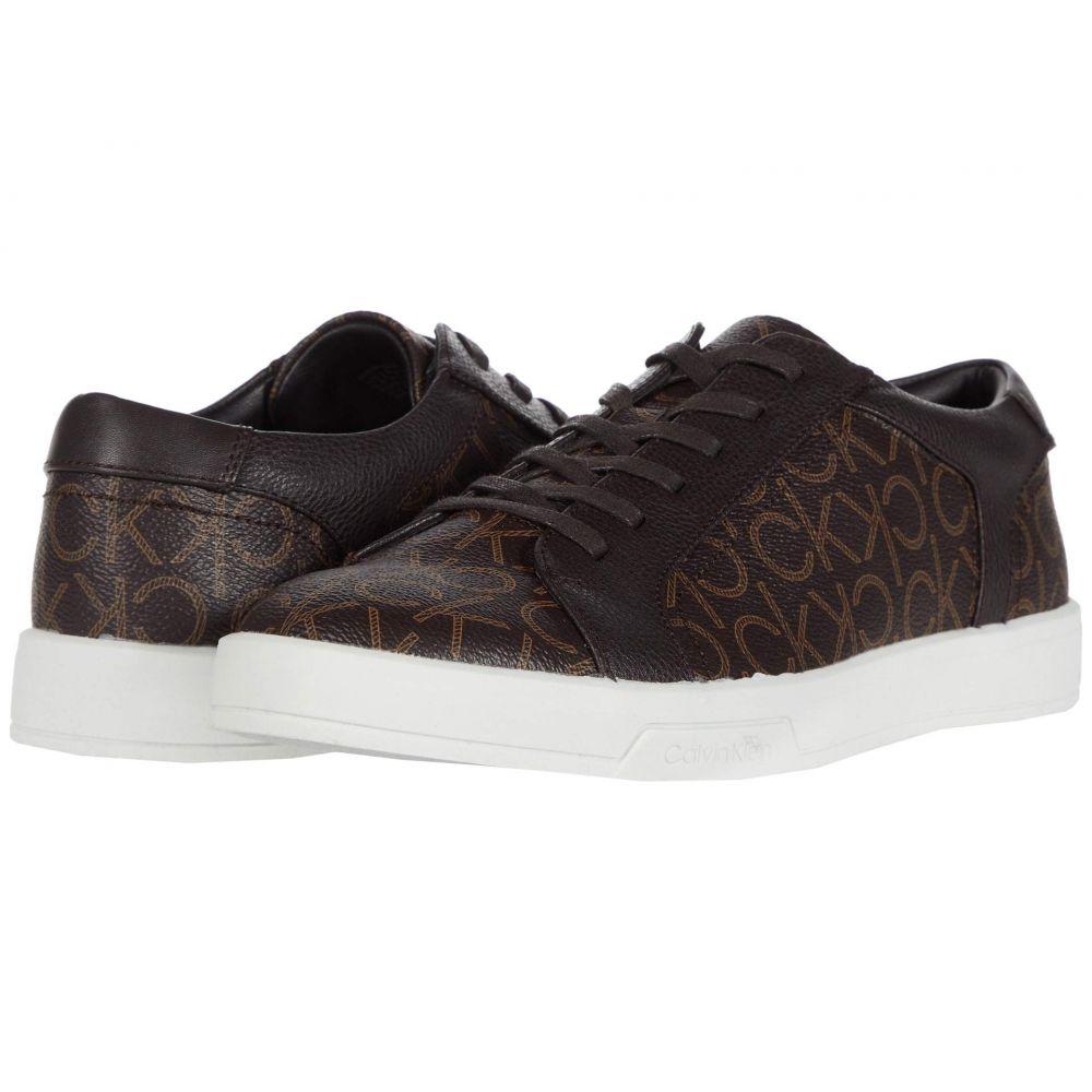 カルバンクライン Calvin Klein メンズ スニーカー シューズ・靴【Bowyer】Dark Brown CK Monogram Smooth