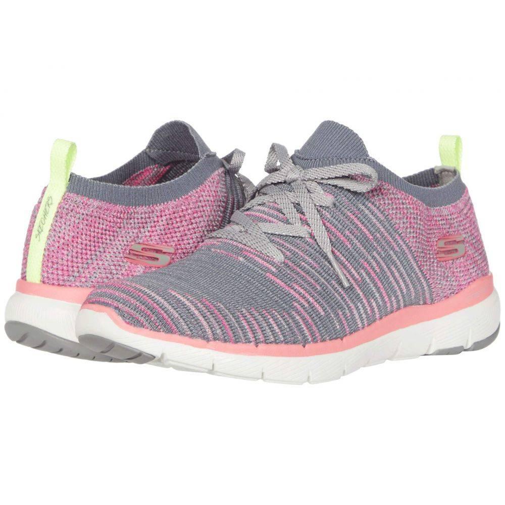 スケッチャーズ SKECHERS レディース スニーカー シューズ・靴【Flex Appeal 3.0 - Glorious】Charcoal/Hot Pink
