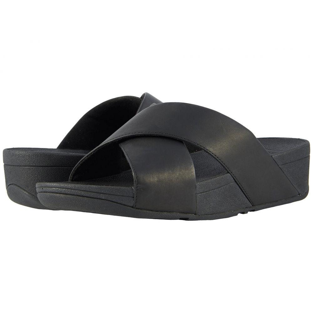 フィットフロップ FitFlop レディース サンダル・ミュール スライドサンダル シューズ・靴【Lulu Cross Slide Leather Sandal】Black