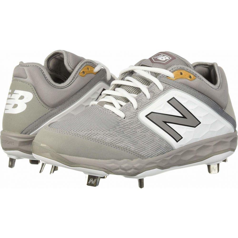 ニューバランス New Balance メンズ 野球 シューズ・靴【L3000v4 Baseball】Grey/White
