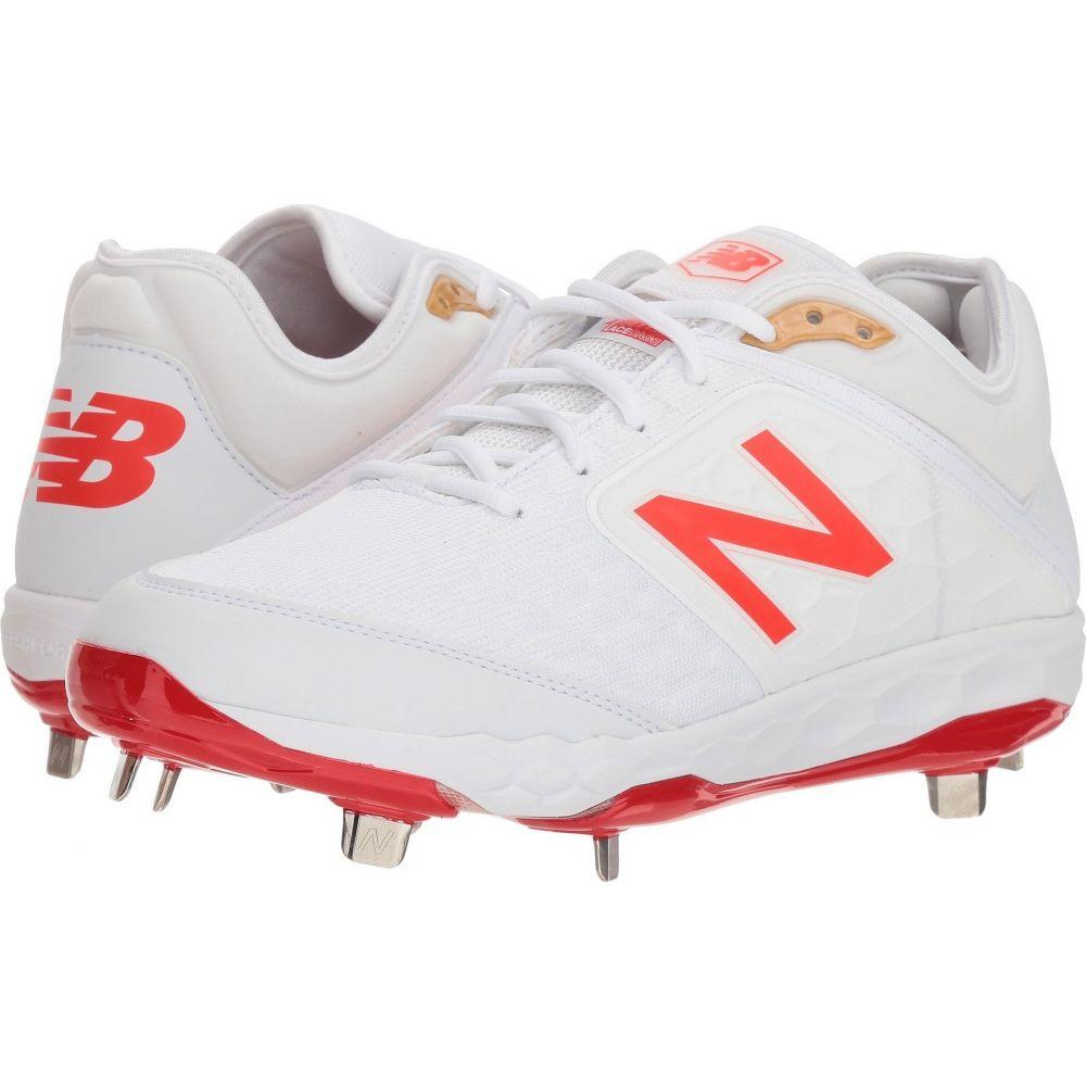 ニューバランス New Balance メンズ 野球 シューズ・靴【L3000v4 Baseball】White/Flame