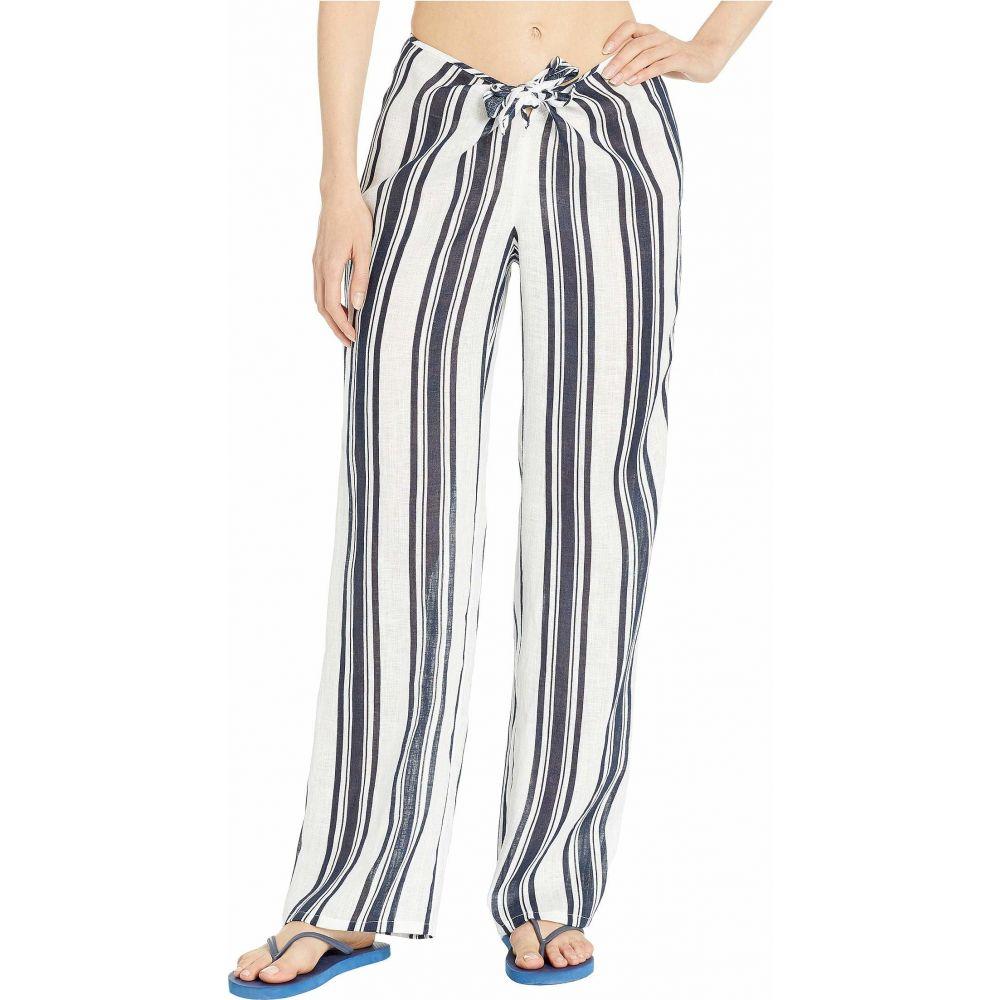 トリー バーチ Tory Burch Swimwear レディース ビーチウェア ボトムス・パンツ 水着・ビーチウェア【Kellen Printed Beach Pants Cover-Up】Bold Awning Stripe