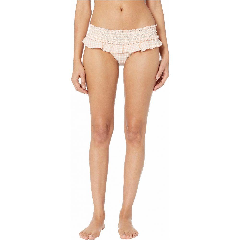 トリー バーチ Tory Burch Swimwear レディース ボトムのみ 水着・ビーチウェア【Gingham Skirted Bikini Bottoms】Pink Quartz/New Ivory