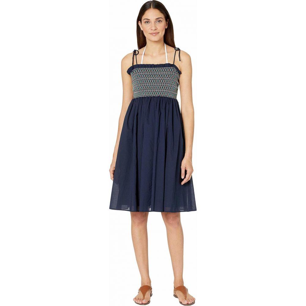 トリー バーチ Tory Burch Swimwear レディース ビーチウェア ワンピース・ドレス 水着・ビーチウェア【Convertible Smocked Dress Cover-Up】Tory Navy