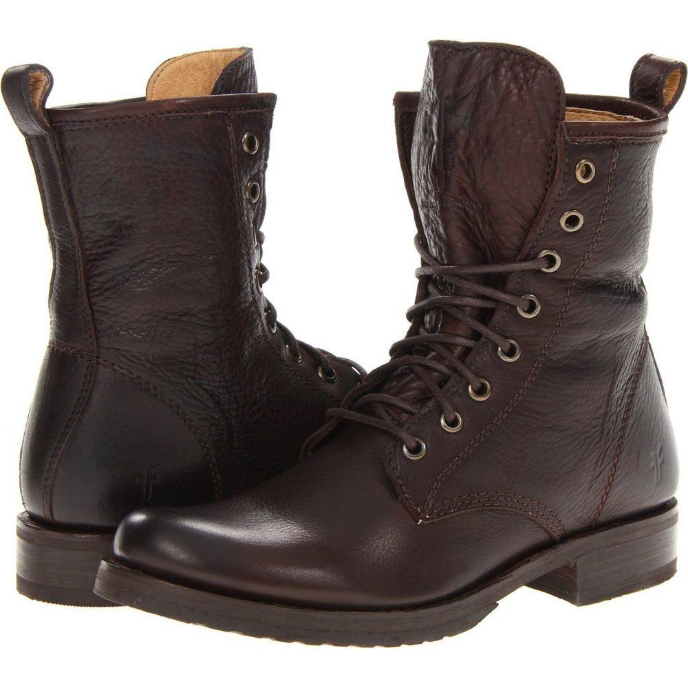フライ Frye レディース ブーツ シューズ・靴【Veronica Combat】Dark Brown Soft Vintage Leather