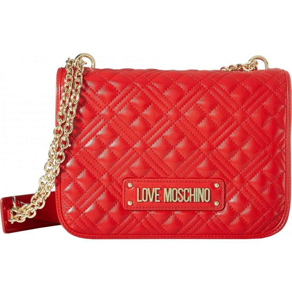モスキーノ LOVE Moschino レディース ショルダーバッグ バッグ【Quilted Shoulder Bag】Red