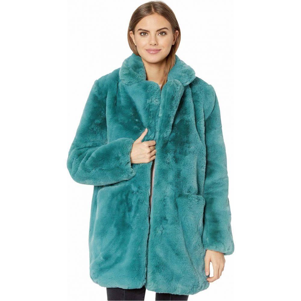 アパリス APPARIS レディース コート ファーコート アウター【Sophie 2 Faux Fur Coat】Sapphire Blue