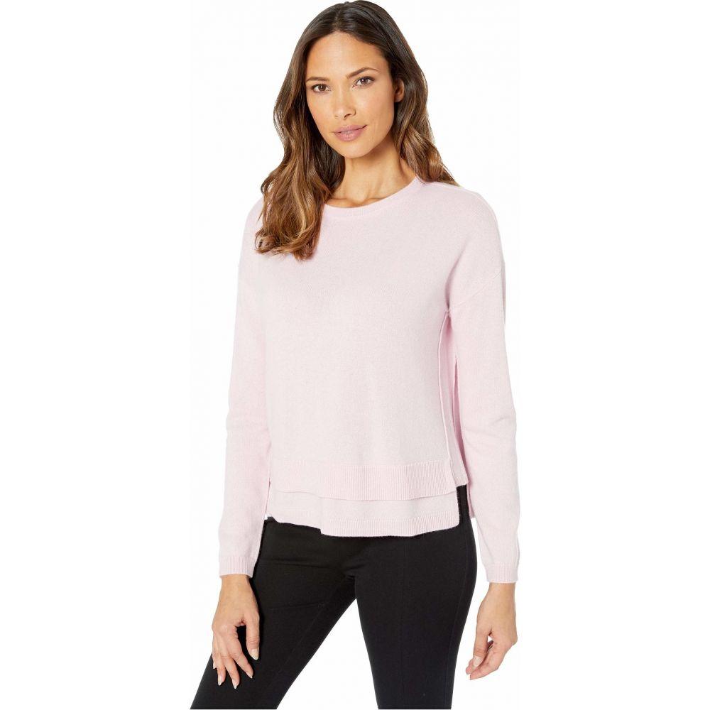 エリオットローレン Elliott Lauren レディース ニット・セーター トップス【Cashmere Crew Neck Sweater with Double Hem Detail】Pink