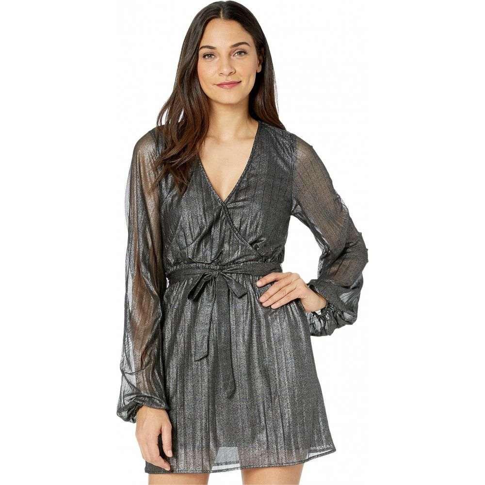 サンクチュアリ Sanctuary レディース パーティードレス ラップドレス ワンピース・ドレス【It's Party Time Faux Wrap Dress】Black Shine