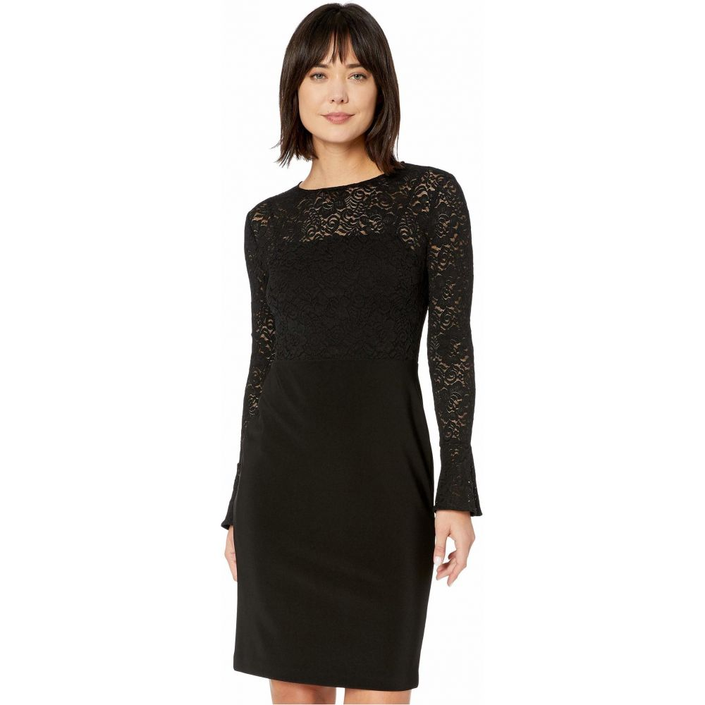 ラルフ ローレン LAUREN Ralph Lauren レディース ワンピース ワンピース・ドレス【Lace-Jersey Dress】Black