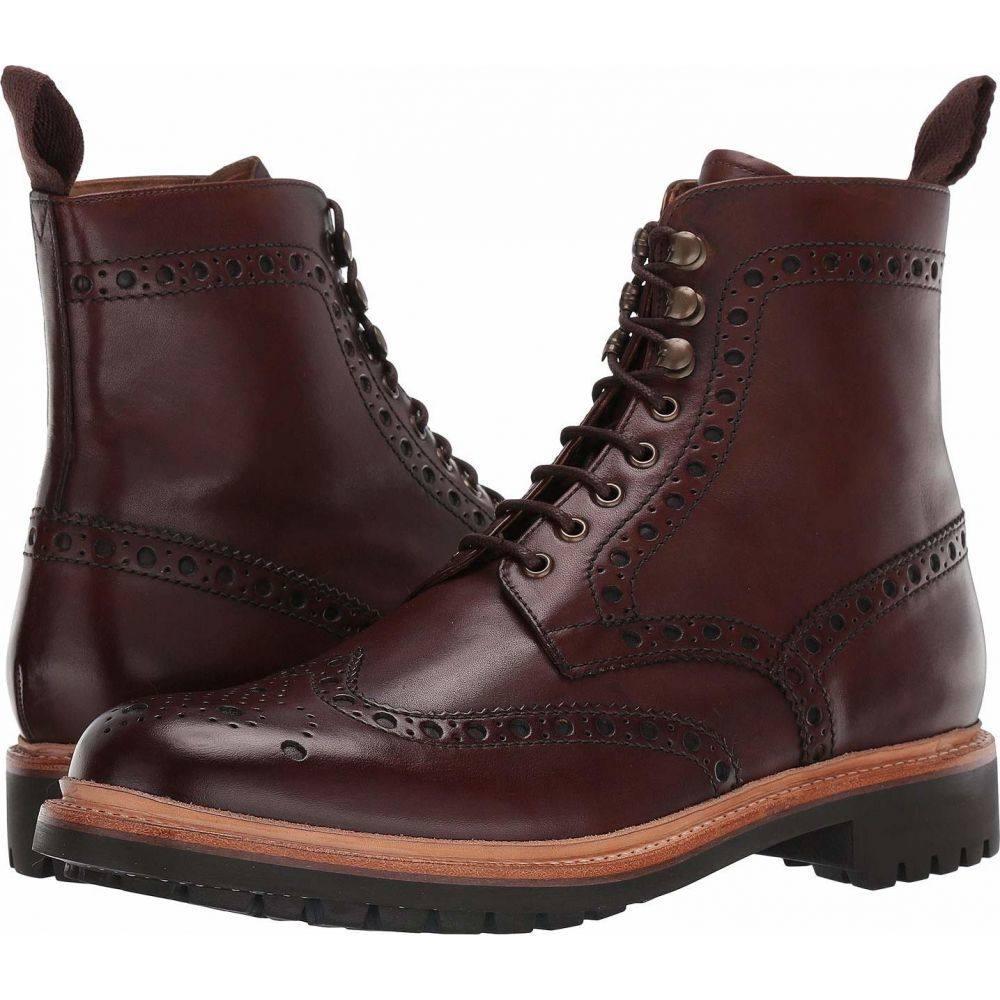 グレンソン Grenson メンズ ブーツ シューズ・靴【Fred Commando Sole Boot】Dark Brown Hand Painted Calf