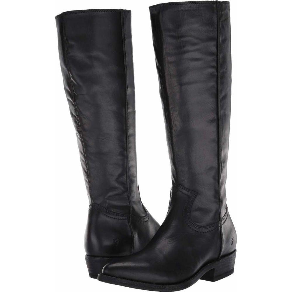 フライ Frye レディース ブーツ シューズ・靴【Billy Inside Zip Tall】Black Full Grain Leather