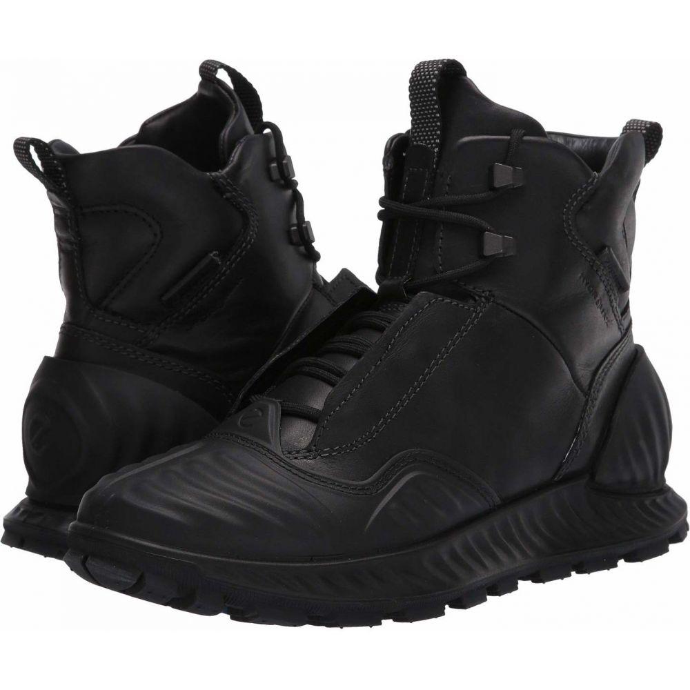 エコー メンズ 爆安プライス ハイキング 登山 シューズ 靴 爆買いセール Black サイズ交換無料 Mid ブーツ Boot Exostrike Primaloft Hydromax Sport ECCO