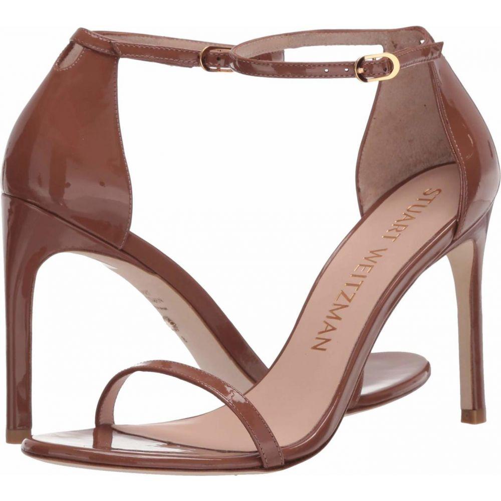 スチュアート ワイツマン Stuart Weitzman レディース サンダル・ミュール アンクルストラップ シューズ・靴【Nudistsong Ankle Strap Sandal】Cappuccino Patent
